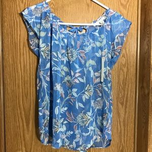 Lauren Conrad sheer blouse size Small NWT